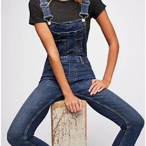 NWT Free People Lexden Skinny Cropped Overalls